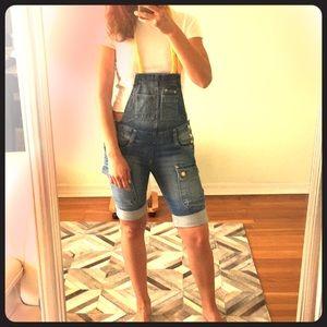 Zara TRF denim short overall
